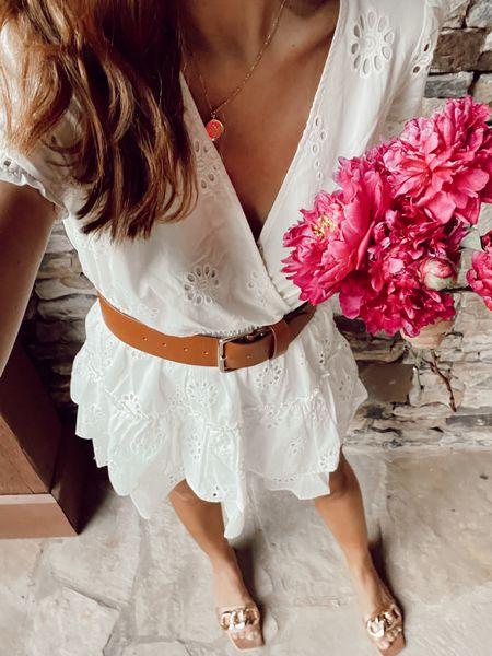 Little white dress under $90! x chain sandals @liketoknow.it #liketkit http://liketk.it/3hNlx #LTKunder100