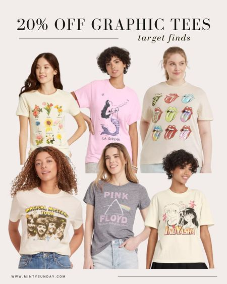target style finds, graphic tees 20% off, back to school, concert outfits, fall outfits, sale  #LTKstyletip #LTKsalealert #LTKunder50
