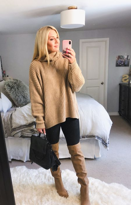 Over the knee boots under $100 and really comfortable. I got my true size. Sweater size down one and Spanx I wear my usual Med. NSale Nordstrom sale   #LTKunder100 #LTKstyletip #LTKsalealert