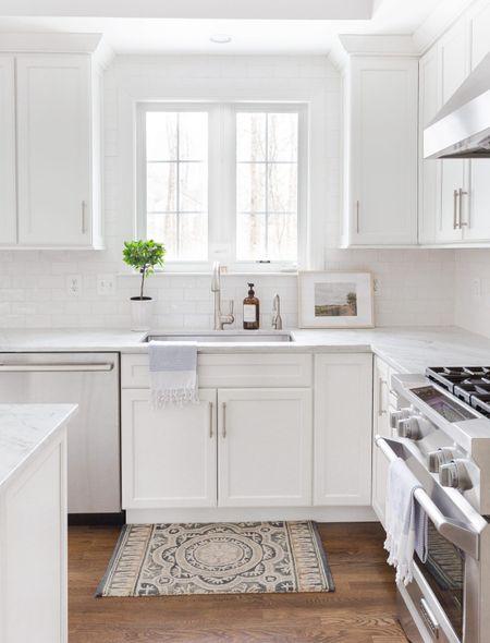Add a framed vintage print in your kitchen.  Kitchen, white kitchen, target finds, Amazon home decor, kitchen decor   #LTKhome #StayHomeWithLTK #LTKstyletip