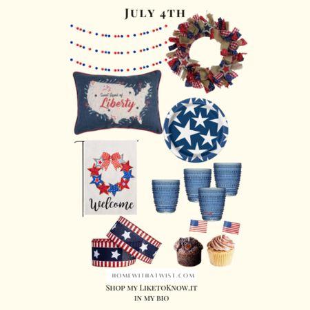 Fourth of July decor from Amazon and Target! http://liketk.it/3ij7x #liketkit @liketoknow.it