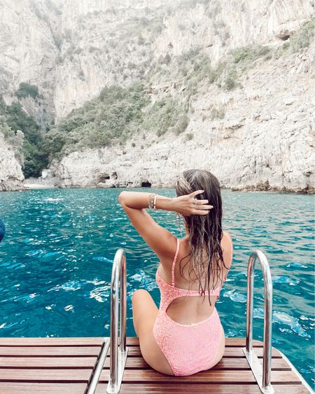 Got lots of love for this one piece suit I wore in Italy! It held up great swimming and jumping into the water from the boat 🚤. Such fun detail and design too 💕 http://liketk.it/3k6B0 @liketoknow.it #liketkit #LTKswim #LTKeurope #LTKtravel