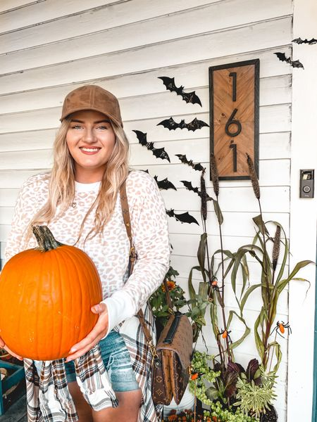 Halloween fall outfit porch decor home
