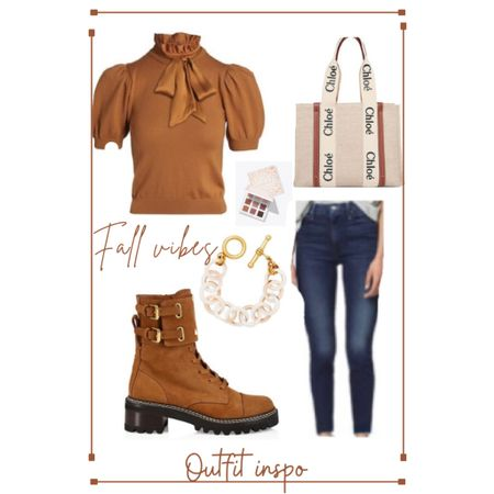 Fall Outfit inspo  Chloe bag, great booties, bow tie top! Perfect Fall outfit 🍁🍂    #LTKSeasonal #LTKshoecrush #LTKstyletip