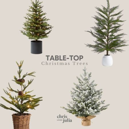 Favorite Table-Top Faux Christmas Trees   #LTKhome #LTKHoliday