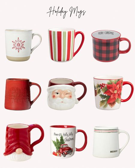 Holiday mugs, Christmas cups, coffee cups, Santa Claus, gnomes  Follow me for more ideas and sales.   Double tap this post to save it for later    #LTKhome #LTKSeasonal #LTKHoliday
