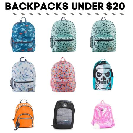 Kids back to school backpacks under $20 Check each item for promo codes to lower the price under $20. http://liketk.it/3jiqv   #LTKkids #LTKsalealert   #liketkit @liketoknow.it