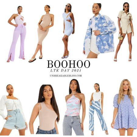 Cute and colorful summer outfits from Boohoo, part of the LTK Day Sale! @liketoknow.it #liketkit #LTKDay #LTKunder50 #LTKsalealert http://liketk.it/3h5s0