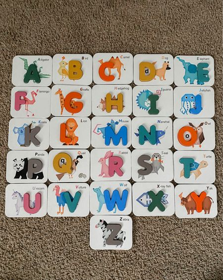 I saw this shared and snagged it real quick for the boys. It's only $12.99 and such great quality! Wood letters and numbers, which I'm always a big fan of. The letters sit in the cards via a small notch.. so fun and functional for everyone. Perfect toddler gift if you're looking for something! http://liketk.it/3girz #liketkit @liketoknow.it #LTKkids #giftidea #toddlergifts