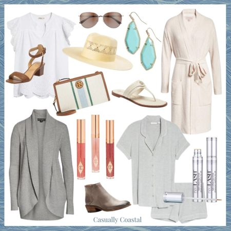 Just a few of my favorite Nordstrom Anniversary sale finds across women & beauty! A full blog post with my top picks for home, men, baby and kids can be found on casuallycoastal.com!  @liketoknow.it #liketkit #LTKsalealert #LTKshoecrush #LTKbeauty http://liketk.it/3jOZD  beach style, coastal accessories, summer accessories, preppy style, summer fashion, resort style, resort wear, beach style, summer pajamas for women, summer pajama sets, pajama short set, leather sandals flat, flat sandals, flat leather sandals, neutral slides, neutral sandals, white sandals leather, white sandals flat, tory burch sandals, tory burch handbags, nordstrom anniversary sale, nsale, barefoot dreams, booties, fall booties, gray booties, straw hat, beach hats, beach hats for women, gifts gifts for her, gifts for mom, mothers day gift, coastal accessories, turquoise earrings, turquoise jewelry, drop earrings, kendra scott earrings, kendra scott drop earrings, statement earrings, summer accessories, summer accessories jewelry, summer earrings, bathrobes, nordstrom bathrobes, cotton bathrobe, bathrobe for women, cozy bathrobes, lip gloss, woven sandals, dressy sandals, aviators, aviator sunglasses, cozy sweaters, gray sweaters