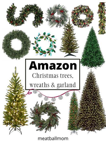 Christmas trees, wreaths, and Christmas garland- holiday greenery from Amazon.                 #ltkunder50 #ltkstyletip #ltkholidaystyle #stayhomewithltk #ltkfamily  Christmas trees, amazon home, Christmas home decor, holiday home decor, holiday decorations  #LTKFall #LTKunder100 #LTKhome http://liketk.it/2Z5Hi #liketkit @liketoknow.it