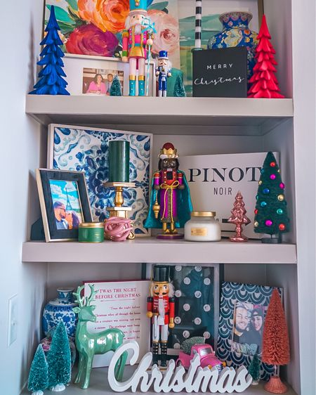 5 Hacks To Help You Decorate For Christmas!   1. Pick a color scheme before you start buying decorations   2. Use Command hooks to hang bows, prints, garland, lights, etc. so you don't ruin your walls.  3. Incorporate your old decor in with your new stuff and start a collection! Every year I buy a new nutcracker to add to the nutcracker crew. You can do this with ornaments, bows, reindeer, etc.   4. Be strategic about where you shop so that you save money! My faves are @target @hobbylobby @winestyleshop @walmart @marshalls @biglots @99centstore   5. Reward yourself with a glass of wine after you're done (or during)!🍷  What's your best Holiday decorating tip?!   Shop my holiday decorations at www.roseandchambray.com/shop or on the @liketoknow.it app! http://liketk.it/32Vk3 #liketkit #LTKhome #LTKunder50 #LTKunder100