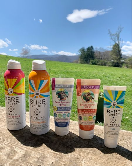 My favorite clean sunscreens ☀️ Take care of your skin and make sure you are using products that are safe for your skin and the ocean.   Currently Buy 1, Get 1 25% off  Summer : Bare Republic : Badger : Skincare : Target Finds    #LTKsalealert #LTKswim #LTKbeauty #liketkit @liketoknow.it http://liketk.it/3cHkF