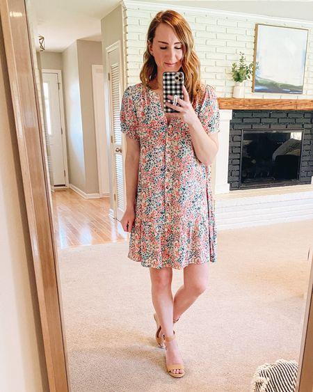 This dress shirt dress is a favorite and it's on sale!   #summerdress #dealoftheday #loft #floraldress  #LTKsalealert #LTKunder50 #LTKSeasonal