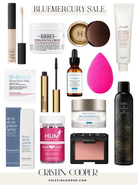 Bluemercury Sale // concealer // moisturizer // translucent powder // face wash // M-61 face pads // mascara // vitamin C serum // beauty blender // sleep pillow spray // hair & nails gummies // blush // dry texturizing spray http://liketk.it/3gK62 #liketkit @liketoknow.it