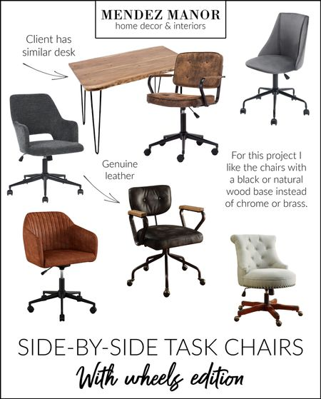 Office chair options for a virtual design client. Options from @wayfair and @overstock.   #LTKhome