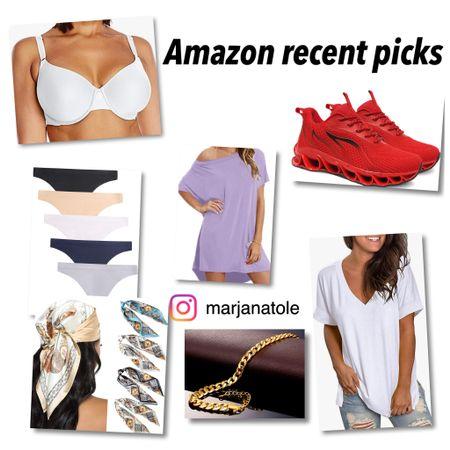 Recent picks from Amazon!   Underwear Bra T-shirt dress Anklet Sneakers Top Scarf  #LTKstyletip #LTKunder50 #LTKSeasonal