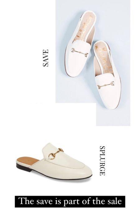 Save and splurge, Gucci loafers, white loafers, Shopbop sale, slides, mules, http://liketk.it/3cOSj #liketkit @liketoknow.it #LTKsalealert #LTKshoecrush