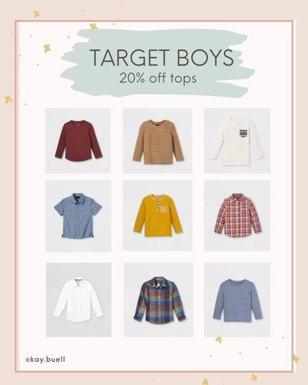 Fall tops for toddler boys on sale at Target!   #LTKSeasonal #LTKkids #LTKfamily