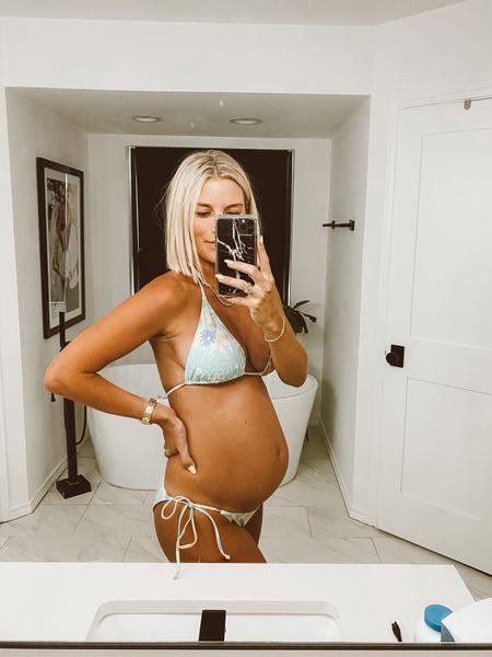 under $25 bikini? Yes please 🙏🏼 wearing size medium + bottoms are not too cheeky :)  #LTKunder50 #LTKbump #LTKswim