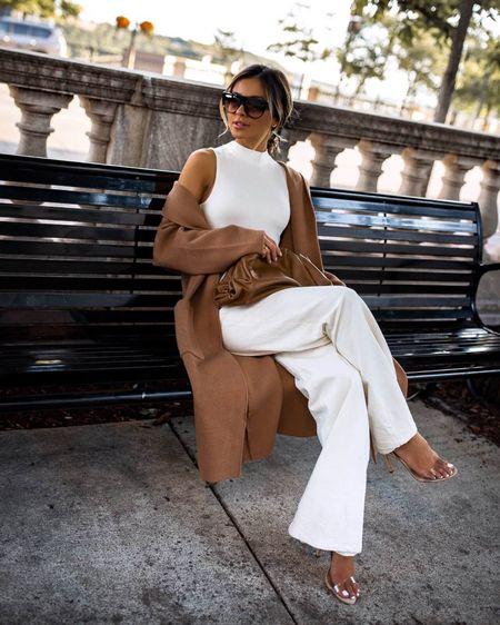 Fall outfit ideas  Mango camel Coatigan on sale   #LTKunder100 #LTKworkwear #LTKstyletip