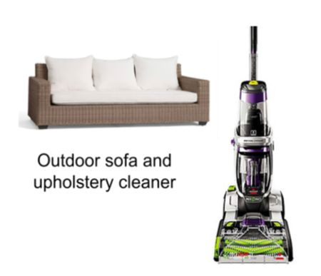 Pottery barn sofa on sale for $100 off! Lots of colors available!  Carpet/upholstery cleaner