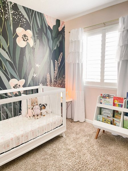 Now up on the blog is Lily's new toddler room reveal! I had so much fun creating this special space for her, and I LOVE how it turned out, especially with this gorgeous wallpaper from @rockymountaindecals! Also big shout-out to @joshua300td for making it all happen while I designed (and bought) all the things! 😉 Head over to my link in bio to view more photos and sources.  Shop my post on @liketoknow.it :  http://liketk.it/3c9T3    #liketkit #LTKnursery #girlsroom #kidsroom #toddlerroom #projectjunior #projectnursery #decorforkids #nurserydecor   #LTKbaby #LTKfamily #LTKhome