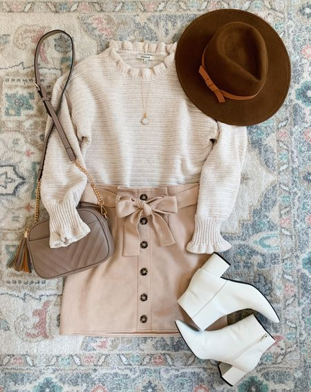 Fall outfit idea White sweater Madewell Teacher outfits White booties  #falloutfitidea #falloutfits #falloutfit #teacheroutfit #teacheroutfits #fallfashion #whitebooties #creamsweater #amazonboots #amazonfashion #amazonbag #amazoncrossbody  Follow my shop on the @shop.LTK app to shop this post and get my exclusive app-only content!  #liketkit #LTKshoecrush #LTKunder50 #LTKSeasonal @shop.ltk http://liketk.it/3nz0d  #LTKSale #LTKunder50 #LTKshoecrush