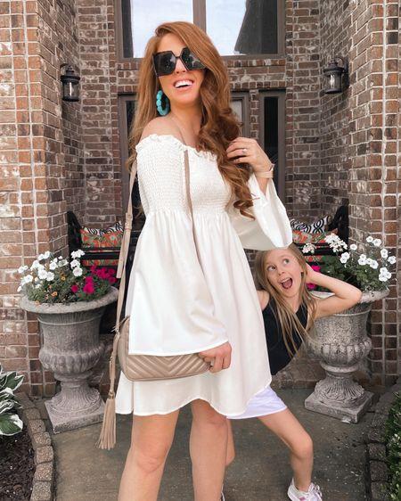 summer dress and the cutest photo bomber @liketoknow.it #liketkit http://liketk.it/3hzjT #LTKunder50 #LTKfamily #LTKkids