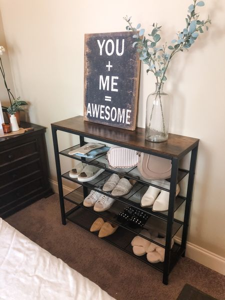This shoe rack from #vasagle is perfect to keep my daughter's bedroom organized. Now her shoes don't have to line up under her bed and they look beautiful too.    Shop your screenshot of this pic with the LIKEtoKNOW.it shopping app    @liketoknow.it @liketoknow.it.home #liketkit #LTKunder100 #LTKsalealert #LTKhome http://liketk.it/3gzPx