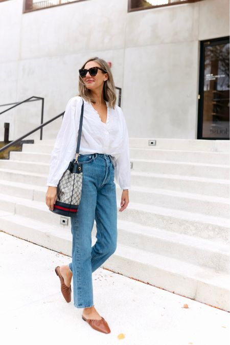 Jeans and a white blouse are all I really need   #LTKunder100