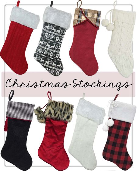 Christmas stockings from Walmart! Under $20!   #LTKHoliday #LTKhome #LTKGiftGuide