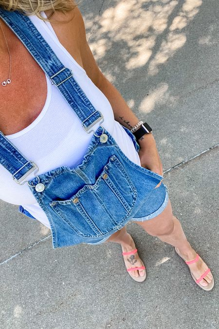 Tried out the shorts overalls with the belly and it's such a comfy on the go option! These are non maternity but are forgiving for a belly. A great summer pregnancy option, AND on sale! http://liketk.it/3ihK4 #liketkit @liketoknow.it #LTKunder100 #LTKsalealert #LTKbump #overall #jean #shorts #bump #bumpstyle #maternity #maternityfashion #nonmaternity