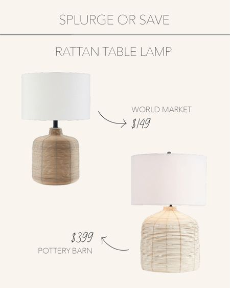 Splurge or Save | These rattan lamps bring warmth to any table or desk ✨  #LTKstyletip #LTKSeasonal #LTKhome
