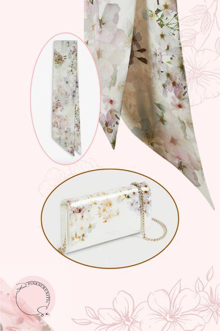 Spring accessories- floral bag - floral purse - floral scarf - skinny scarf - Ted Baker - wedding accessories     #LTKwedding #LTKeurope #LTKSeasonal