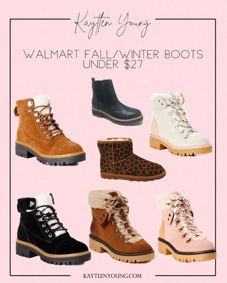 Walmart fall and winter boots under $27 fall staple pieces hiking boots designer dupe
