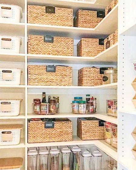 Pantry organization baskets and bins. http://liketk.it/3h3XW #liketkit @liketoknow.it   #LTKhome #LTKunder100 #LTKunder50