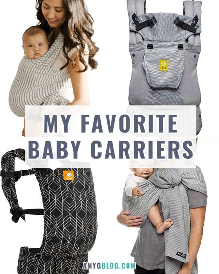 My favorite baby carriers to get things done! Baby wearing   Wrap carrier   Structured carrier  #LTKfamily #LTKkids #LTKbaby