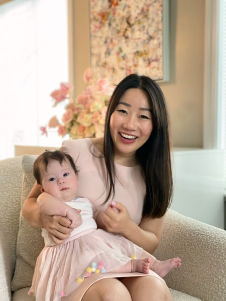 Matching in pink with my mini me, who turned four months old today. My dress is on sale and it's perfect for work, brunch, baby showers and weddings. I have it in more than one color.   #LTKsalealert #LTKbaby