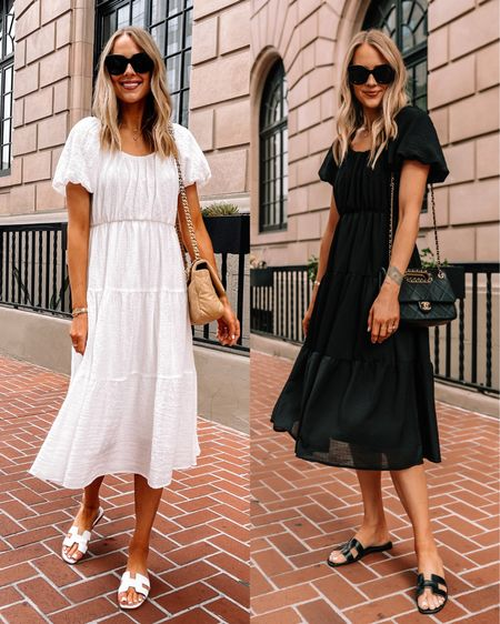 I got this midi dress for summer in both white and black because it's under $100 and I know I'll be able to dress it up or down for summer. It would also be good for vacation bc there are numerous ways to wear it so you can pack light! http://liketk.it/3ivk0 #dresses #summerdress #whitedress #blackdress #sandals #liketkit #fashionjackson #nordstrom  #LTKunder100 #LTKunder50 #LTKstyletip