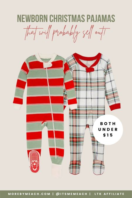 These newborn Christmas pajamas are under $15 at Target!! Snag them before they sell out. 🎄 | baby Christmas pajamas, newborn Christmas outfit boy, gifts for newborns Christmas, striped Christmas pajamas for kids, plaid Christmas pajamas for kids   #LTKHoliday #LTKbaby #LTKsalealert