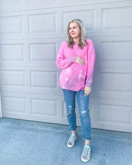 Favorite maternity jeans are on sale for 25% off today! My top is from an online boutique @sixteenelevenboutique and I've linked similar sneakers, on sale too! #boutiquestyle #bumpstyle #maternity #bumpfriendly #LTKsalealert #LTKshoecrush #LTKbump    http://liketk.it/32I9j #liketkit @liketoknow.it