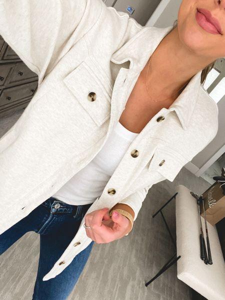 Madewell shirt jacket   #LTKunder100 #LTKSeasonal