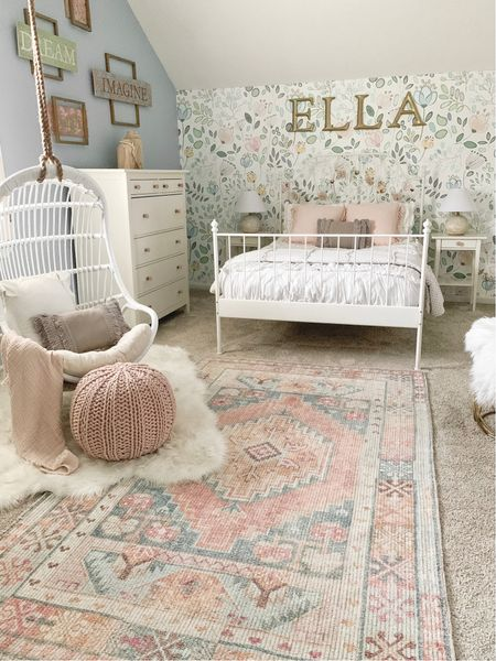 My daughter's room got a refresh. We added this fun hanging swing chair, and I love how it turned out! @liketoknow.it #liketkit http://liketk.it/37aYV