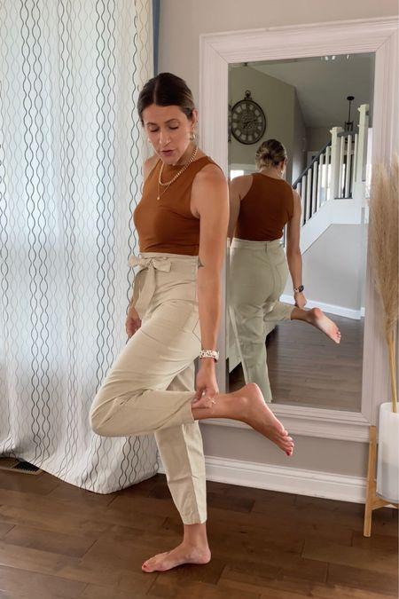 Hm trousers, amazon bodysuit. Comes in a lot of colors http://liketk.it/3jSnc #liketkit @liketoknow.it #LTKstyletip #LTKunder50 #LTKsalealert