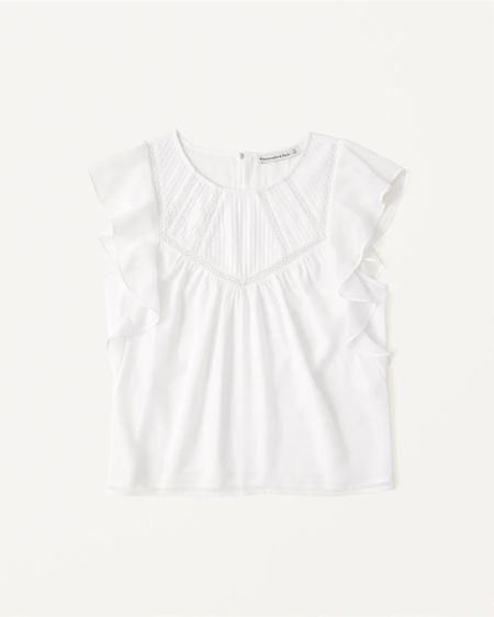 http://liketk.it/3k3Dt #liketkit @liketoknow.it  Abercrombie new releases Feminine white blouse from the Belbel collection