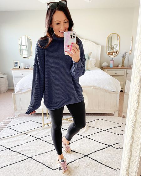 Coziest chenille sweater for fall & perfect with leggings!