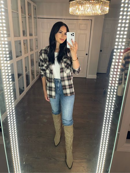 Sharing my recent amazon finds! This flannel is so pretty! I'm wearing size Large for over sized fit   #LTKbeauty #LTKunder50 #LTKHoliday