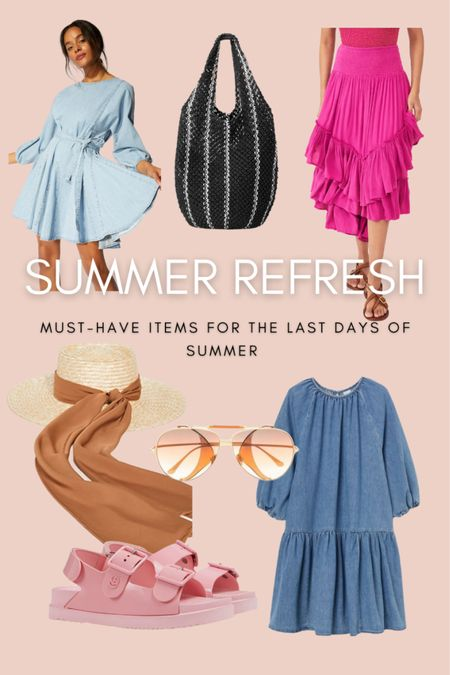 Give your wardrobe an end of summer refresh with these must have pieces.  #LTKshoecrush #LTKitbag #LTKunder100