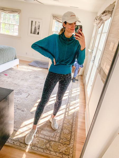 Workout athleisure outfit. Wearing a small in the top, so good I also have it in white!  #LTKshoecrush #LTKfit #LTKunder100